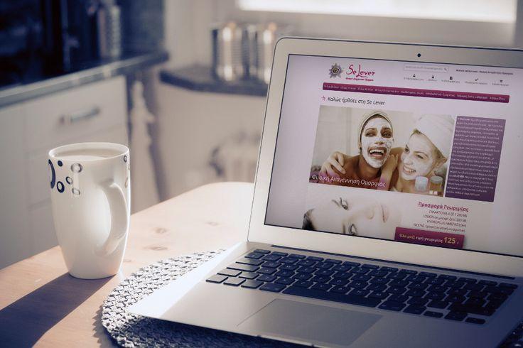 SeLever web site desktop view