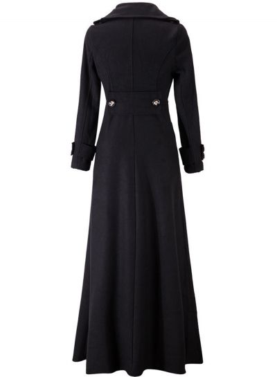 Women's Fashion Long Sleeve Floor Length Long Trench Coat - OASAP.com
