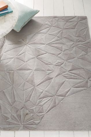 Buy Grey Geo Carved Rug from the Next UK online shop