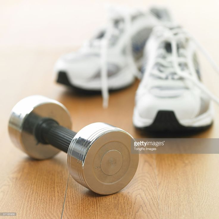 Stock Photo : sport goods and a sports shoe