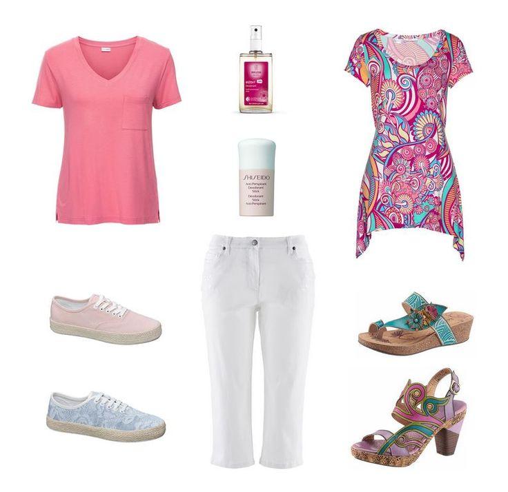 Ležérne oblečenie pre moletky verzus extravagantné oblečenie pre moletky - biele capri nohavice pre moletky