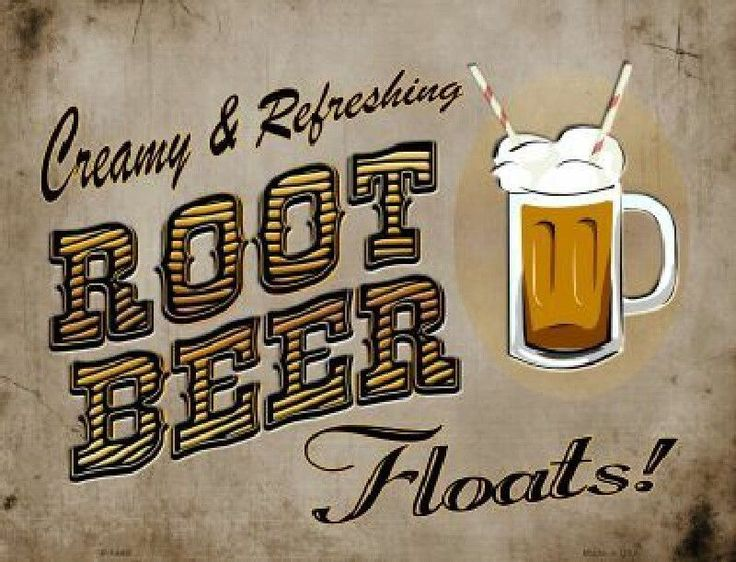 Root Beer Floats Creamy Refreshing  Metal Sign