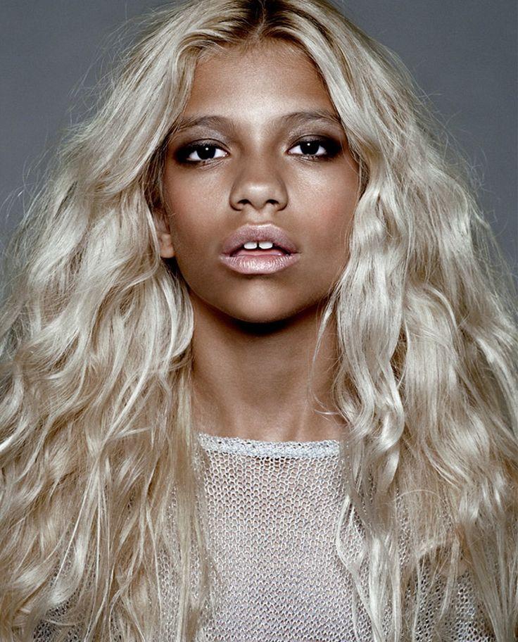 Aboriginal blonde hair