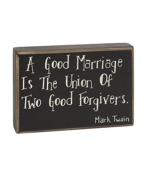 Another great find on #zulily! 'A Good Marriage' Box Sign by Collins #zulilyfinds