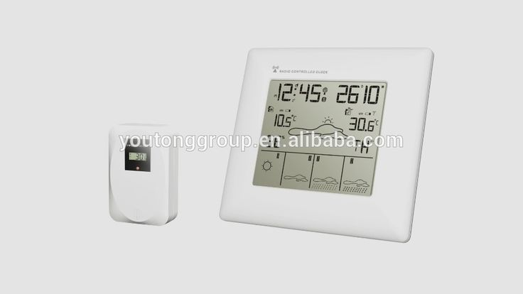 5 days weather forecast with radio controlled clock