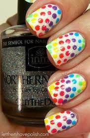 Aquí les dejo un gran estilo de uñas para personas que les gusté el arco iris o los colores