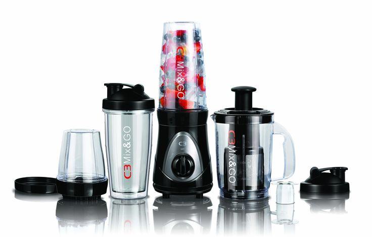 C3 Mix & Go Pro är 3 i 1 produkt som passar perfekt för din hälsosamma livsstil. Enkelt att mixa, enkelt att ta med sig. Blanda, mixa drick!