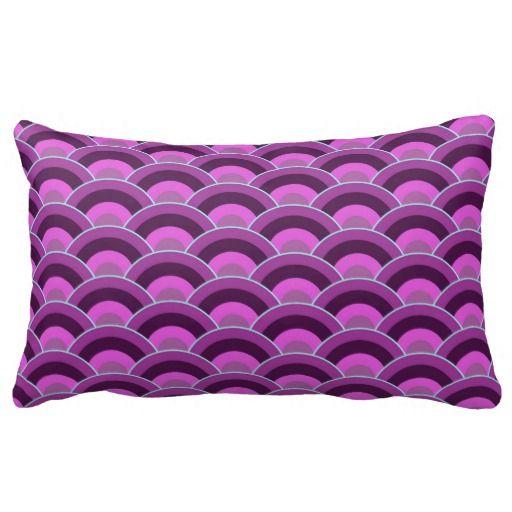 modern pattern lumbar pillow - cotton or polyester 13x21