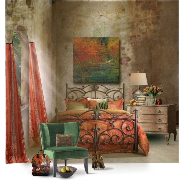 Earthy Bedroom Polyvore Camas Debajo Ventanaa Casa Ecas
