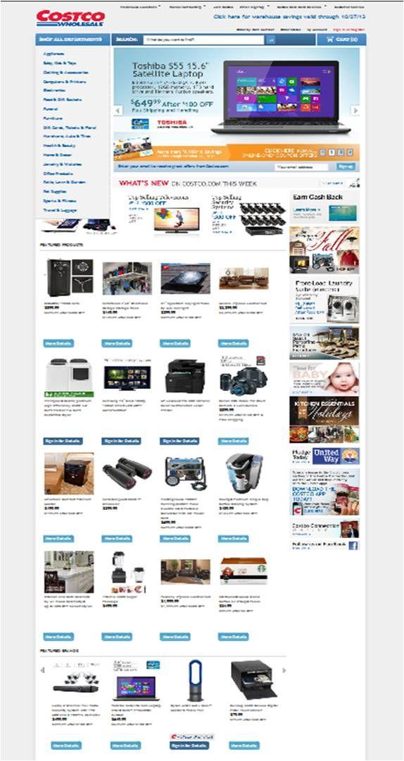 Costco Website: http://www.costco.com/ #webspherecommercemade #ecommerce