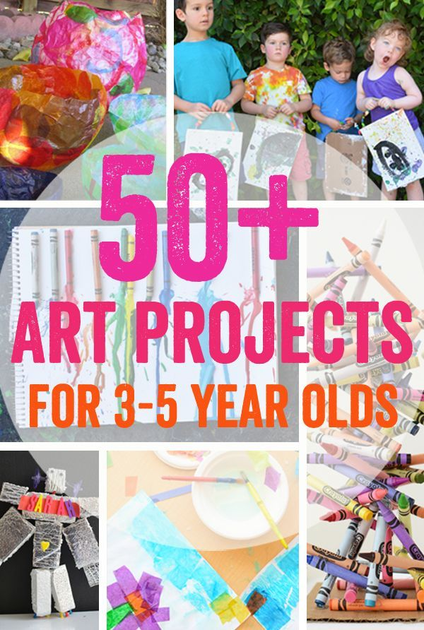 50 + Art Projects for 3-5 Year Olds