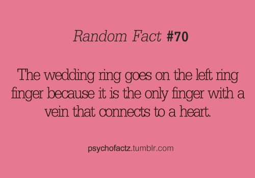 interesting: Wedding Ring, Sweet, Wedding Ideas, Ring Finger, Wedding Fact, Thought, Fun Facts, Interesting Facts, Random Facts