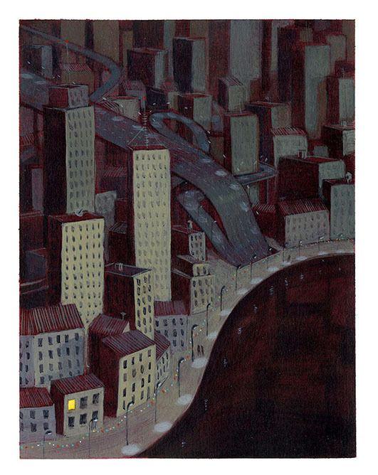 Claire de Gastold - La fenêtre éclairée   Oeuvres   Galerie Robillard