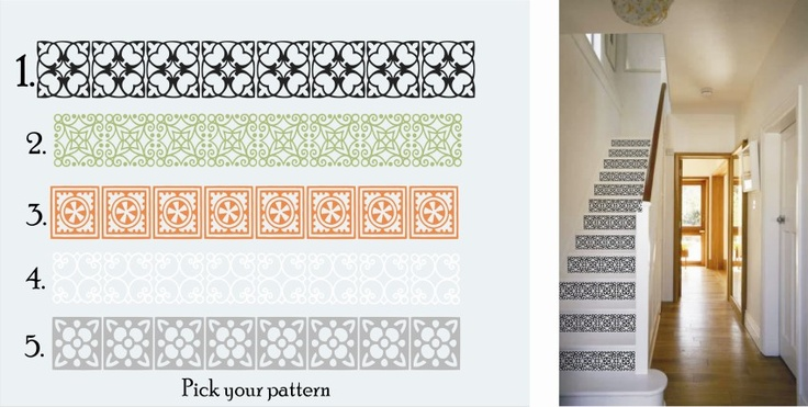 Decorative Decals For Your Stair Risers. Pick Your Style