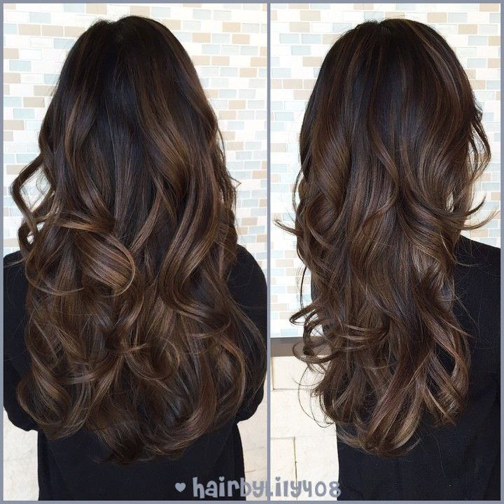 """""""natural balayage Highlights for Nguyet! #hairbylily408 #colorist #lorealprous…"""