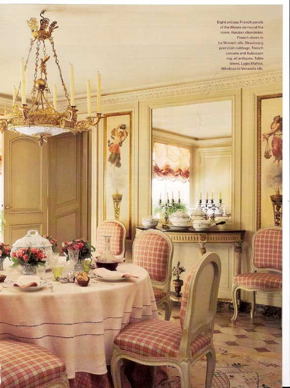 french country dining room interior design by henri samuel frenchcountry dining - Country Dining Room Pictures