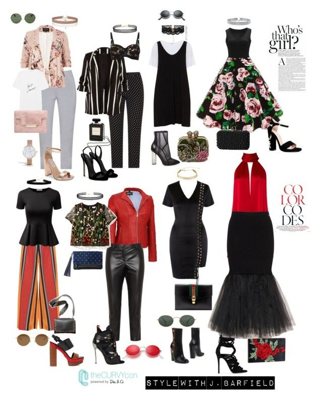"""""C'mon Curves!"" by J. Barfield"" by justinbarfield ❤ liked on Polyvore featuring ASOS Curve, Zizzi, Mat, Jennifer Bryde, Elena Mirò, Doublju, River Island, Galvan, New Look and Steve Madden"