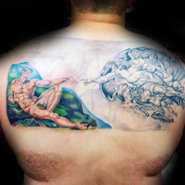 60 The Creation Of Adam Tattoo Designs For Men Michelangelo