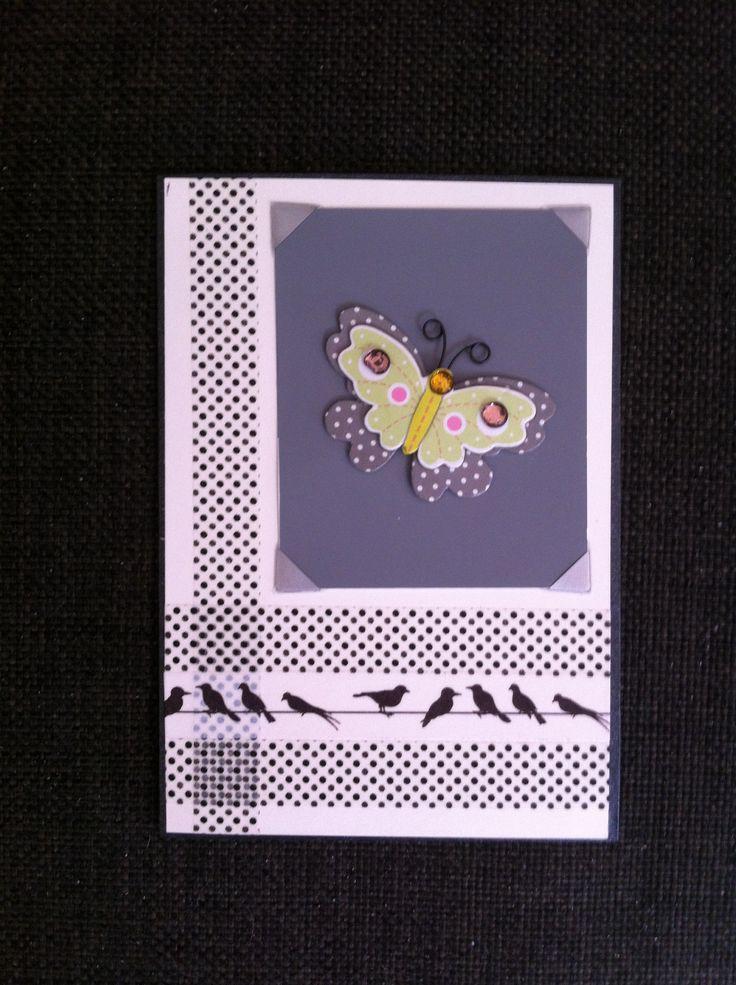 Card using washi tape