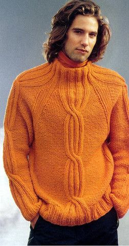 Men's Hand Knitted Wool Turtleneck Sweater 44B