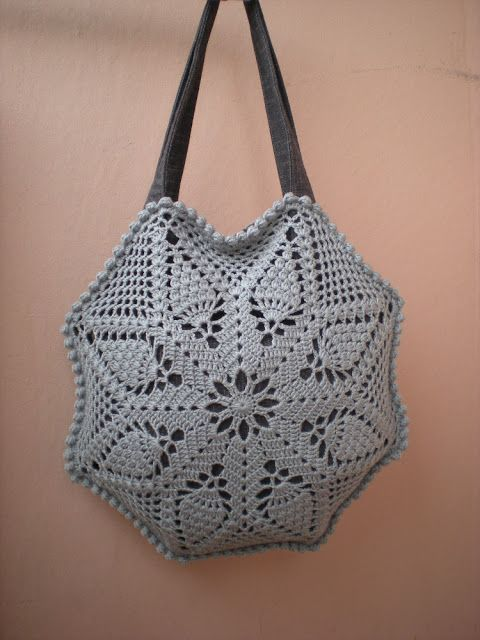 EmmHouse: Octagon pineapple shoulder bag – full written pattern