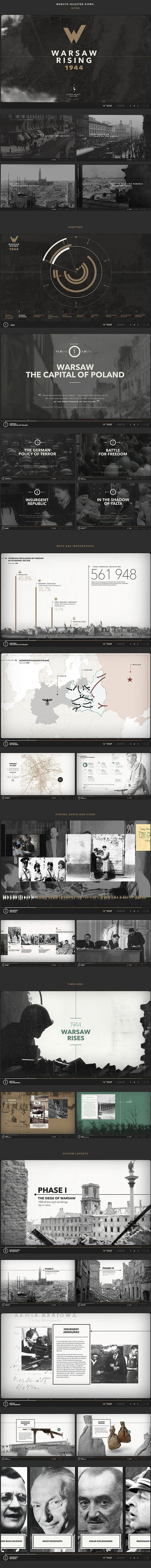 Warsaw Rising 1944 was developed in cooperation between the Topography of Terror Foundation in Berlin and the Warsaw Rising Museum for the anniversary of the Warsaw Rising. #infographics