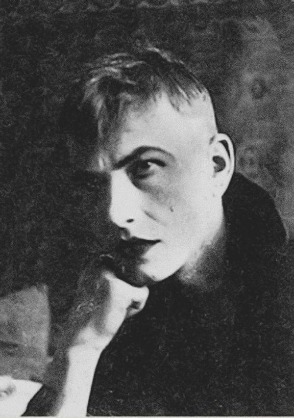Otto Dix about 1919/20 at a masked ball