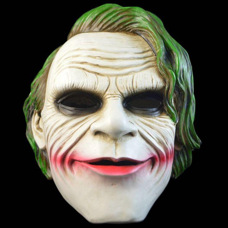 Free Shipping Adult Resin Batman Joker Clown Bank Robber Mask Dark Knight Costume Halloween Masquerade Party Fancy Resin Mask