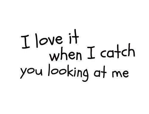 I do, Babe.  When our eyes meet, it makes all the waiting and wondering so worthwhile because I'm connected to you for those few seconds in a way that means so much to me...I love it when you hold my eyes for longer...means more than I can ever tell you, it reassures me in a way nothing else can...xo