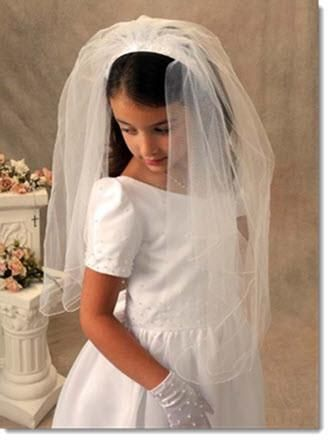 First Communion Headband Veil Style Katharine