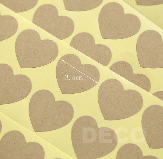 Новый бланк крафт в форме сердца наклейка для ручной продукты-подарок печать наклейка 35 мм ( сс-7307 )