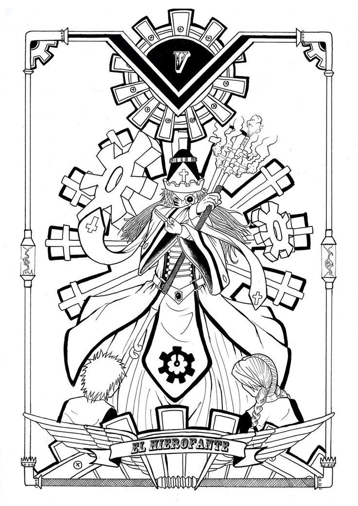 Steam Tarot V El Hierofante By Yurio Art