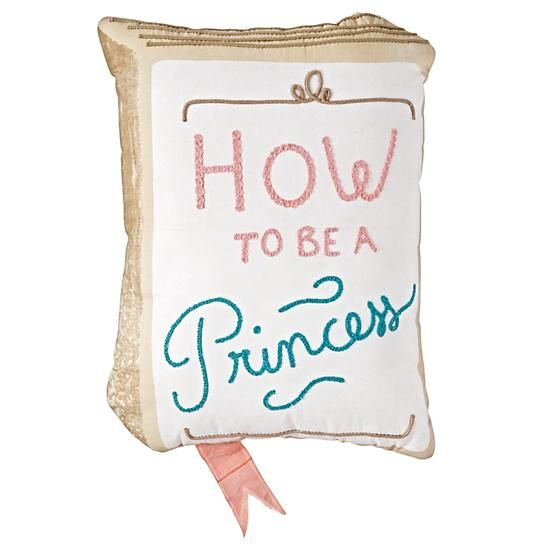 How to Be a Princess Throw Pillow  | The Land of Nod