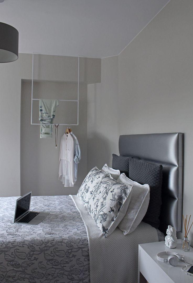 Dpto. N.Balboa // Dormitorio blanco+gris 3 //  Sybil Roose (Visybilidad)
