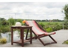 Beach strandbed Charly - uit exclusief mahoniehout