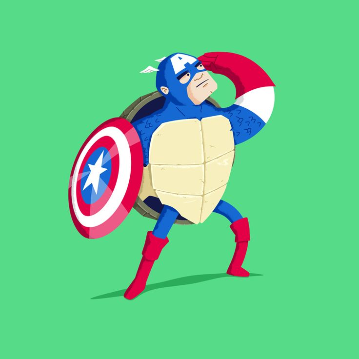 Heroes in a Half Shell: Captain America