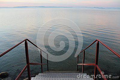 Beautiful Lake Balaton, view from Balatonfoldvar