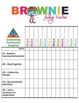 This personalizable Tracker allows troop leaders to document badge requirements for each girl.  Includes all of the new Legacy and Journey badges in the Girls Guide to Girl Scouting. Each page includes one badge. For my troop, I printed the sheets in color, double-sided, then laminated them.