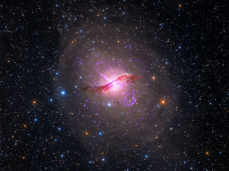 Astronomers have mapped the stellar halo surrounding the elliptical galaxy Centaurus A (NGC 5128), finding it to extend farther than expected. This Hubble Space Telescope image was released on July 22, 2014. -  Credit: NASA, ESA & M. Rejkuba (European Southern Observatory)
