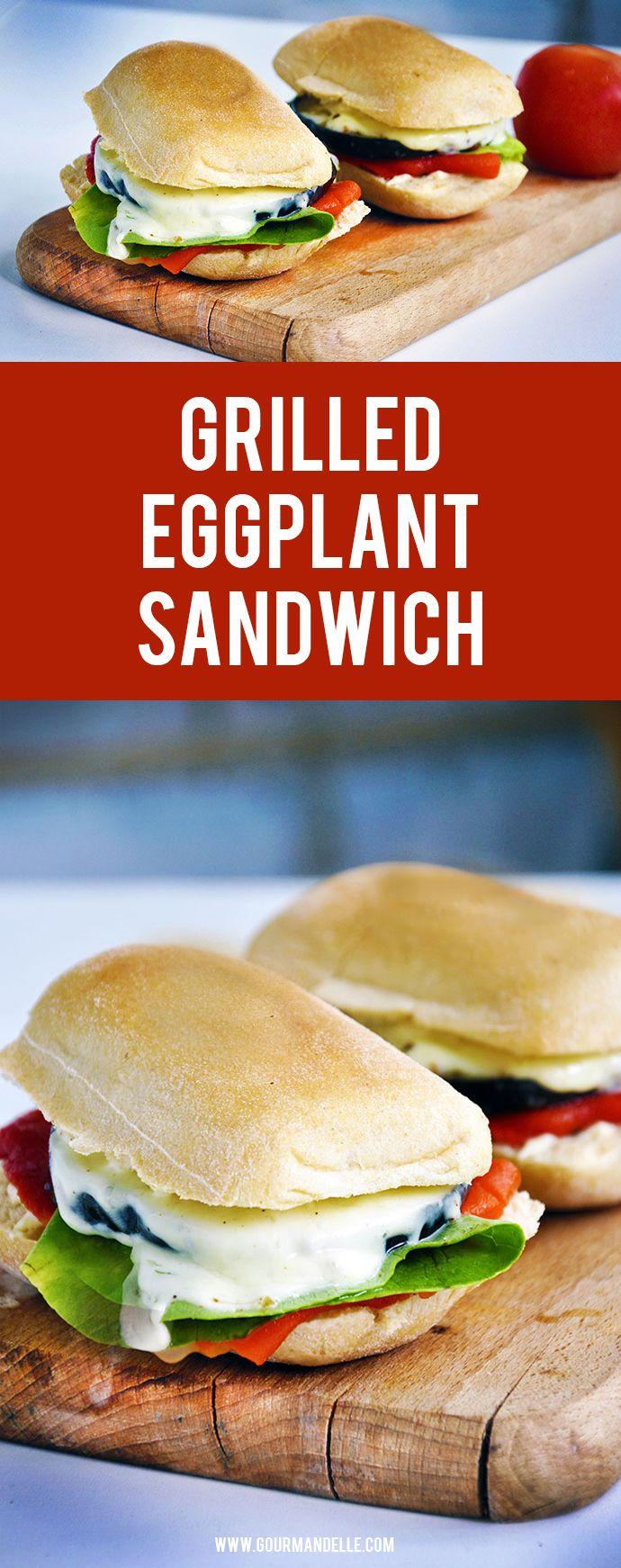 grilled eggplant sandwich eggplant sandwich grilled eggplant vegan ...
