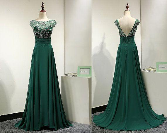 25  best ideas about Emerald green formal dress on Pinterest | V ...