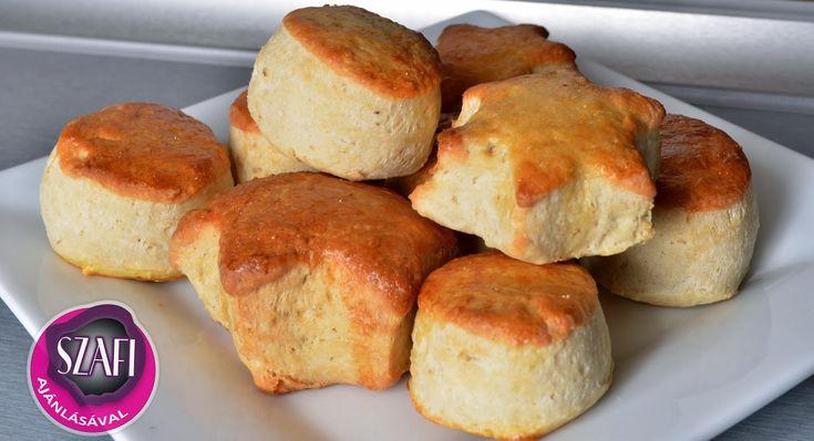 Tejfölös-túrós pogácsa (gluténmentes, laktózmentes, cukormentes) ~ Éhezésmentes Karcsúság Szafival