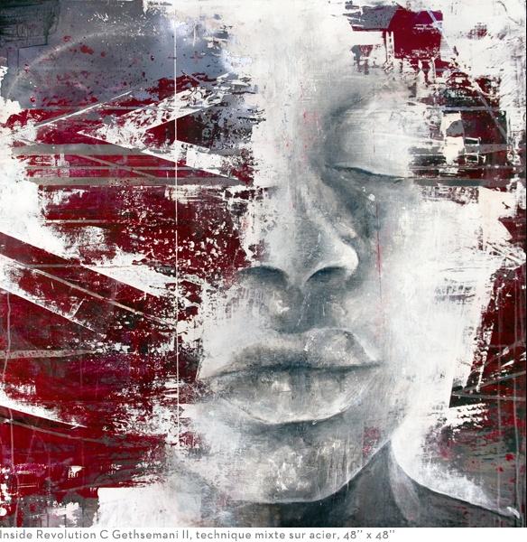 """Inside Revolution C Gethsemani II"" 48x48"