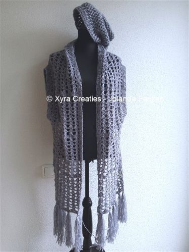 #PATR1061 #Xyra #xyracreaties #sjaalvest #vest #gilet #sleeves #shrug #sjaal #scarf #beany #scarfvest #haakpatroon #patroon #haken #gehaakt #crochet #pattern #crochetpattern #DIY #haakpatroon #patroon #haken #gehaakt #crochet #pattern #DIY #Patroon PATR1061 (NL) is beschikbaar via: Pattern PATR1061 (English-US) is available at: www.xyracreaties.nl www.ravelry.com/stores/xyra-creaties www.etsy.com/shop/XyraCreaties