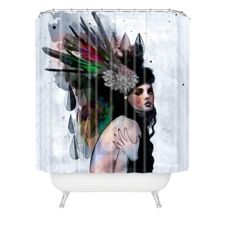 Deniz Ercelebi Mira Shower Curtain   DENY Designs Home Accessories  Brins Bathroom (Feathers, Arrows Etc)