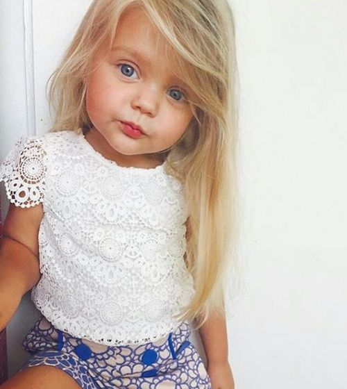 lacey white top for a little girl