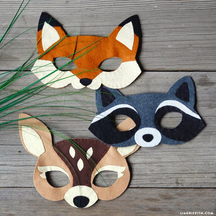 Follow our full video tutorial for the step-by-step process for creating felt woodland masks. Make this kid's craft with your littles ones for Halloween!