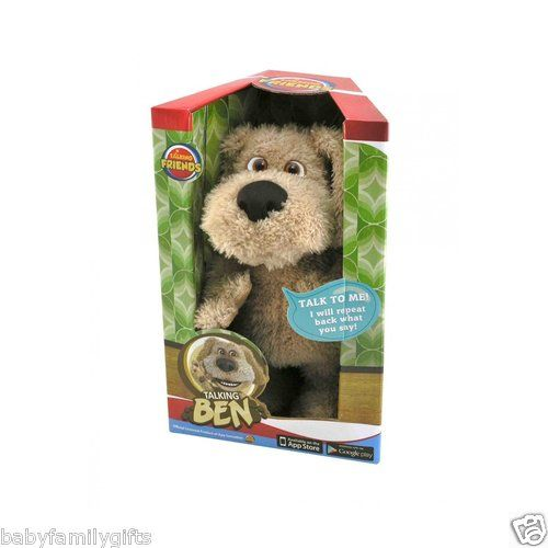 """Cuddle Barn 11"""" Animated Talking Ben Dog Plush Toy Repeats Back What You Say $35.00 Sold at Baby Family Gifts Ebay"""