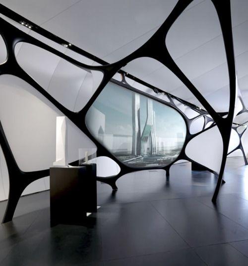 Inspiration -Future House, Institut du Monde Arabeby Zaha Hadid, Futuristic Interior Design #FaureciaNAIAS2014