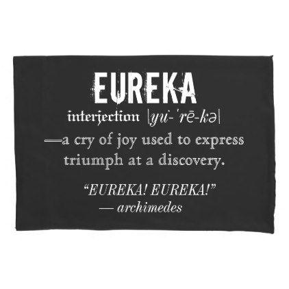 #Eureka Definition Archimedes Greek Nerd Fraternity Pillowcase - #Pillowcases #Pillowcase #Home #Bed #Bedding #Living